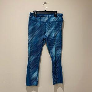 Nike Blue Crop Leggings Size M